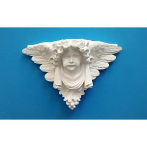 Putto Alato  Mensola-Capitello in gesso  (Prodotto laccato bianco)