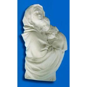 Madonna con bimbo  Art.193  (Prodotto laccato bianco)