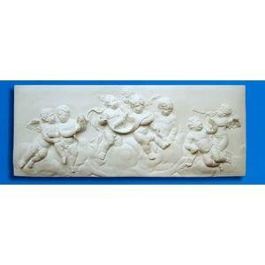 Bassorilievo in gesso - Putti (Prodotto laccato bianco)