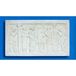 Bassorilievo in gesso - Terme Romane   (Prodotto laccato bianco)