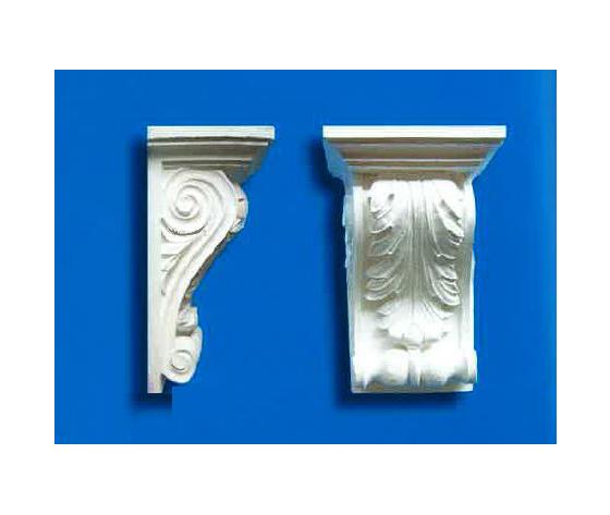 Capitello-mensola in gesso Art. 3  (Prodotto laccato bianco)