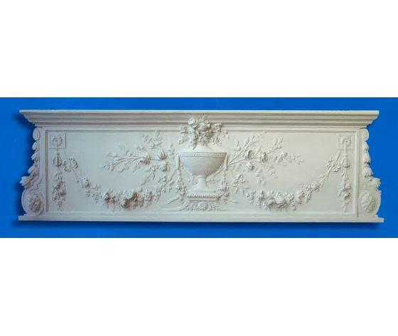 Pannello Sopraporta in gesso  (Prodotto laccato bianco)