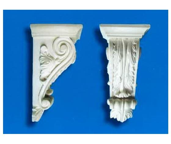 Capitello-mensola in gesso Art. 6  (Prodotto laccato bianco)