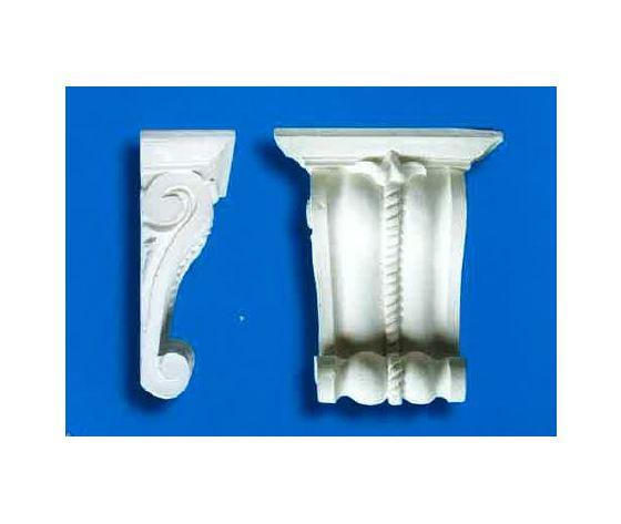 Capitello-mensola in gesso  (Prodotto laccato bianco)