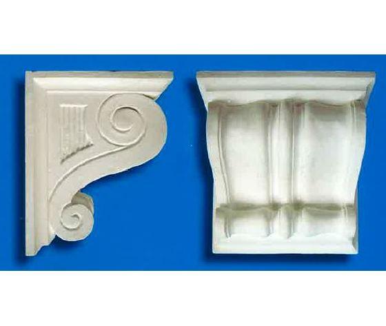 Capitello-mensola in gesso 1/B  (Prodotto laccato bianco)