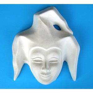 Maschera Giullare Art. 58  (Prodotto laccato bianco)