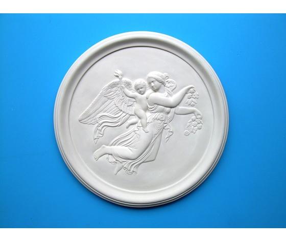 Bassorilievo in gesso - Angelo custode (Prodotto laccato bianco)