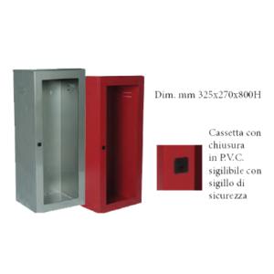CASSETTA P. ESTINTORE KG. 5/9/ 12 INOX CON PORTELLO PER LASTRA SAFE WINDOW