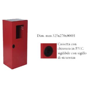 CASSETTA P. ESTINTORE KG. 5/9/ 12 VERNICIATA ROSSO RAL3000 CON PORTELLO PIENO E FINESTRA DI ISPEZIONAMENTO