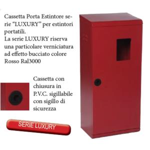 """CASSETTA P. ESTINTORE KG. 6 """"SERIE LUXURY"""" PORTELLO PIENO E FINESTRA DI ISPEZIONAMENTO"""
