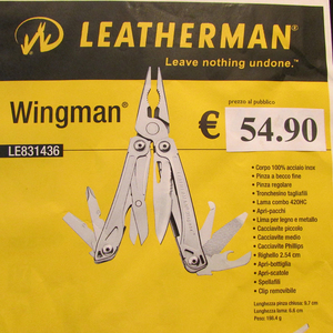 PINZA LEATHERMAN WINGMAN