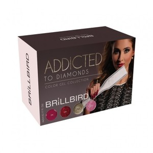 BrillBird Addicted to Diamonds Kit Brush&Go Gel