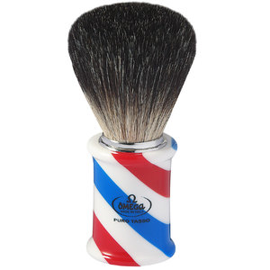 """BARBER POLE"" Pennello da Barba Omega in Tasso Nero 6736"