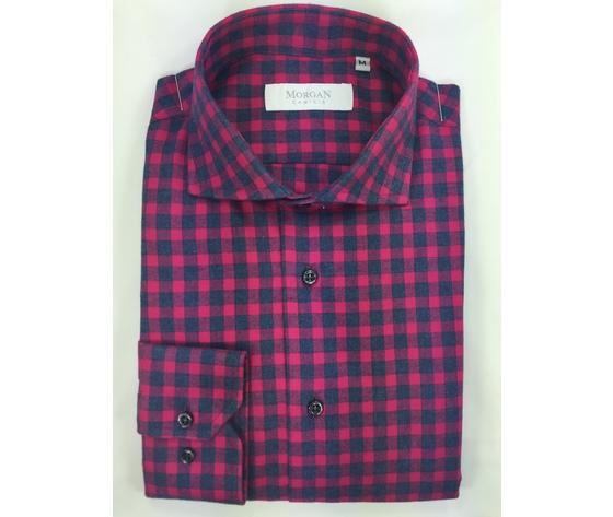 Camicia super slim rosso/blu