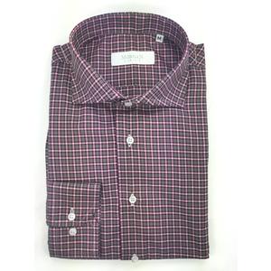 Camicia super slim rosa/blu