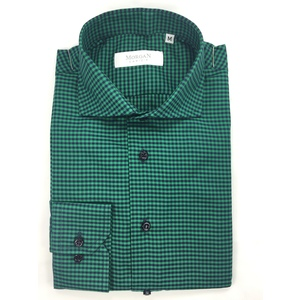 Camicia super slim verde/nero