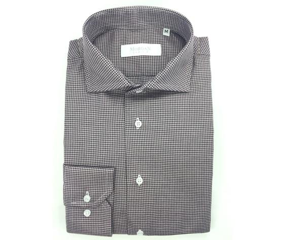 Camicia super slim bianco/nero