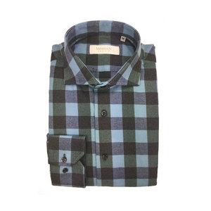 Camicia super slim azzurro/nero