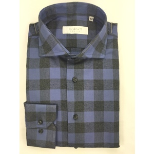 Camicia super slim blu/nero