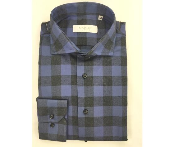 Camicia super slim blu/nero