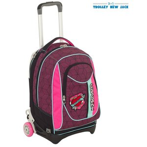 SEVEN TROLLEY NEW JACK - REBEL GIRL - Fuxia - SGANCIABILE e LAVABILE