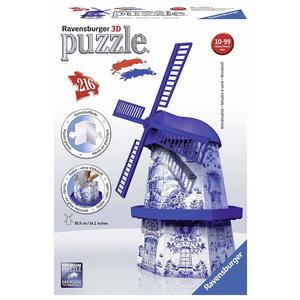 Ravensburger – Puzzle 3d Building Serie MIDI, Mulino Olandese, 12519