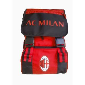 Zaino Scuola AC MILAN Estensibile, Ufficiale - pallone incluso