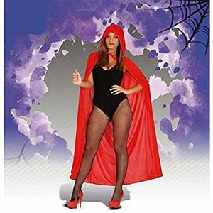 Mantello rosso con cappuccio - 140 cm