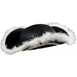 Cappello Tricorno con finitura in marabouin feltro