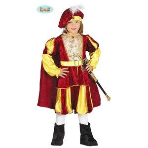 Guirca - Costume da re in vellutino rosso e giallo