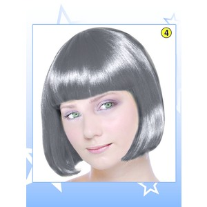 Parrucca caschetto nera