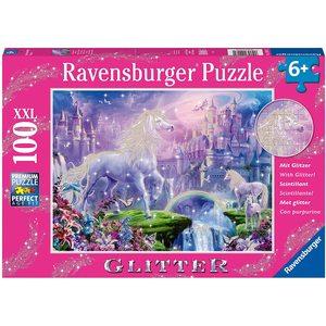 Ravensburger 12907 - Puzzle 100 Pezzi XXL - Regno Unicorno