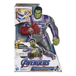 Hasbro - Marvel Avengers - Endgame Hulk Pugni Invincibili, Action Figure Elettronica con 20 Suoni e Frasi