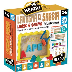 Headu 22403 - Lavagna di Sabbia Leggo e Scrivo Montessori