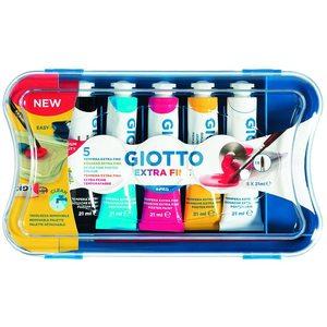 Giotto - scatola con 5 tubetti 21ml tempera extrafine