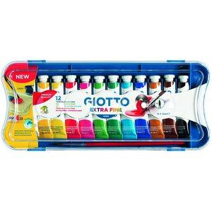 Giotto - Tempera in Tubetto 12 ml, 12 Colori