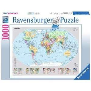 Ravensburger 15652 - Puzzle 1000 pezzi - Mappamondo politico