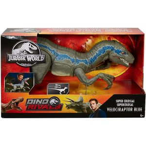 Jurassic World - Dino Rivals - Velociraptor Blu, 37 cm