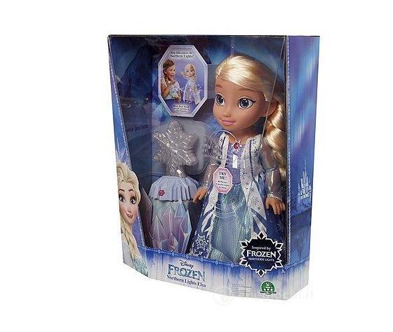 Frozen - Bambola Elsa Luci del Nord Interattiva con Canzone