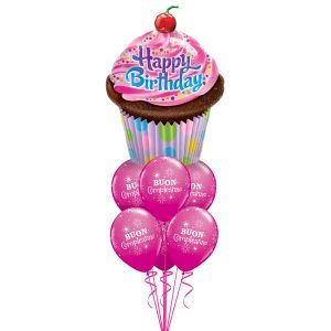Bouquet Birthday Cupcake
