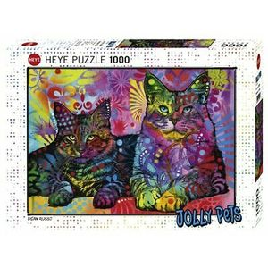 HEYE 29864 - Puzzle 1000 pezzi - Dean Russo: Devoted 2 Cats