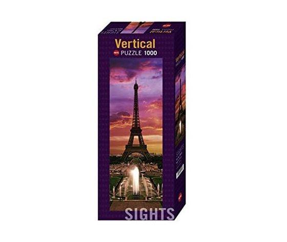 Heye 29551 - Puzzle 1000 pezzi Vertical - Notte a Parigi