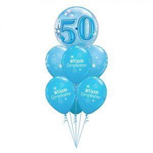 BOUQUET 50° COMPLEANNO - BLUE