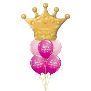Bouquet Golden Crown Pink