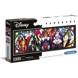 Clementoni 39516 - Puzzle 1000 pezzi - Disney Panorama Collection - Villains