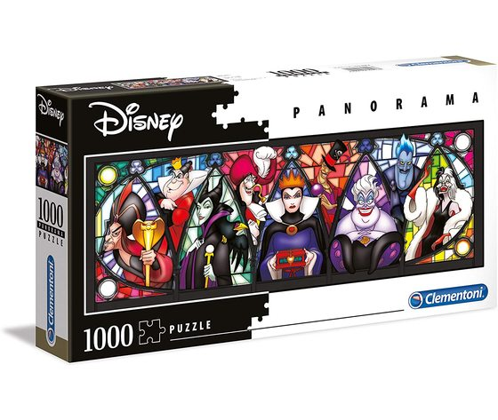 Clementoni 39516 - Puzzle 1000 pezzi - Disney Panorama Collection - Villains