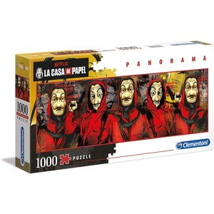 Clementoni 39545 - Puzzle 1000 pezzi Panorama - La Casa Di Carta