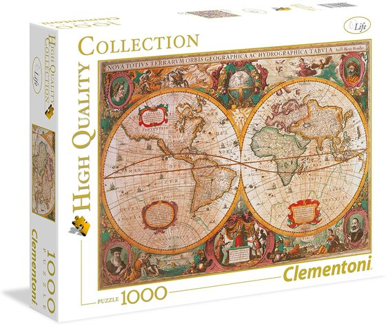 Clementoni 31229 - Puzzle 1000 Pezzi - High Quality Collection: Mappa Antica