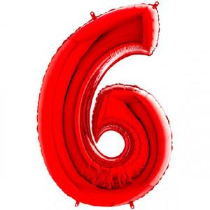 NUMERO 6 ROSSO