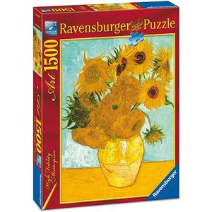 Ravensburger 16206 - Puzzle 1500 pezzi - Van Gogh: Vaso con Girasoli